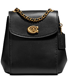 COACH Leather Parker Convertible Mini Backpack