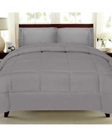 Solid Color Box Stitch Down Alternative Comforters