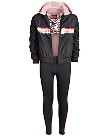 Ideology Big Girls Windbreaker, Strappy-Back Sports Bra & Leggings, Created for Macy's