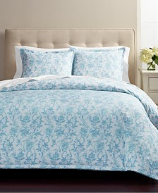 CLOSEOUT! Martha Stewart Collection Floral Wave 3-Pc. Comforter Sets, Created for Macy's