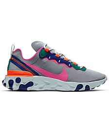 Nike Women's React Element 55 Casual Sneakers from Finish Line