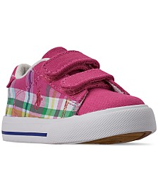 Polo Ralph Lauren Toddler Girls' Easten II EZ Plaid Casual Sneakers from Finish Line