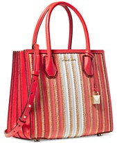 e55fcafd2c MICHAEL Michael Kors Mercer Accordion Leather & Straw Tote