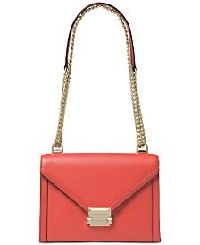 MICHAEL Michael Kors Whitney Polished Leather Shoulder Bag