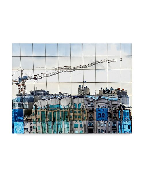 "Trademark Global Omer Ates Kzltug 'New City In Old City' Canvas Art - 24"" x 2"" x 18"""
