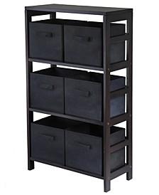 Capri 3-Section M Storage Shelf with 6 Foldable Fabric Baskets