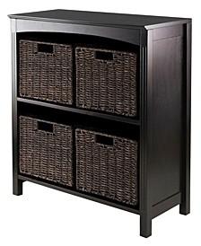 5Pc Storage 3-Tier Shelf with 4 Small Baskets