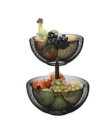 2 Tier Mesh Fruit Bowl