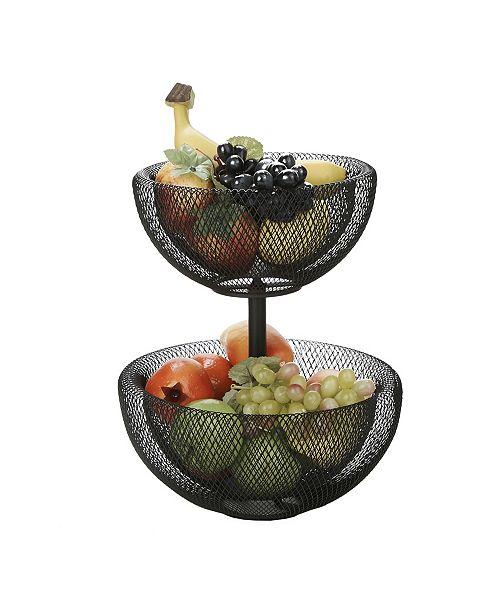 Mind Reader 2 Tier Mesh Fruit Bowl