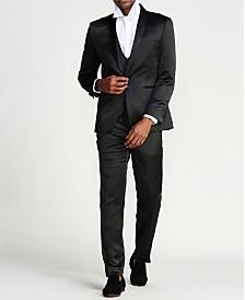 Men's Solid Sharskin 3-Piece Slim Fit Suit