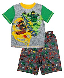 Lego Ninjago Little and Big Boys 2 Piece Short Pajamas Set