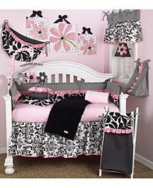 Girly 4-Piece Crib Bedding Set  Set