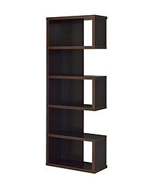 Sliverton Semi-Backless Bookcase with 5 Tiers