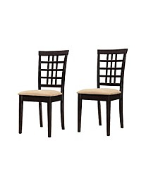 Calvin Grid Back Dining Chairs (Set of 2)
