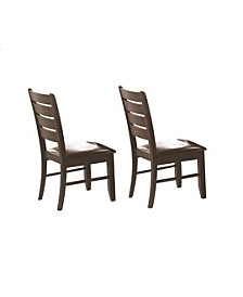 Arnaldo Slat Back Side Chairs (Set of 2)