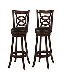 "Archibald 29"" Swivel Bar Stools with Upholstered Seat (Set of 2)"