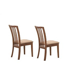 Anik Slat Back Side Chairs with Upholstered Seat (Set of 2)