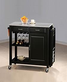 Aldo Kitchen Cart with Granite Top