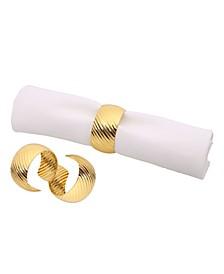 Set of 6 Gold Napkin Rings