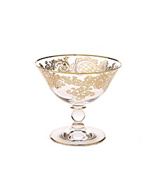 Dessert Bowl with 24K Gold Design