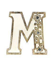 Albion Carved Wood M Initial