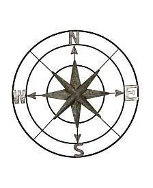 Cypress Black Compass Wall Decor