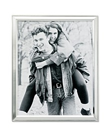 """Brushed Silver Plated Metal Picture Frame - 8"""" x 10"""""""