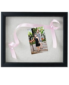 "Lawrence Frames Black Shadow Box Frame - Linen Inner Display Board - 11"" x 14"""