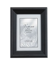 "Lawrence Frames Black Wood Picture Frame - Tuxedo - 4"" x 6"""