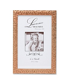 "Rose Gold Shimmer Metal Picture Frame - 4"" x 6"""