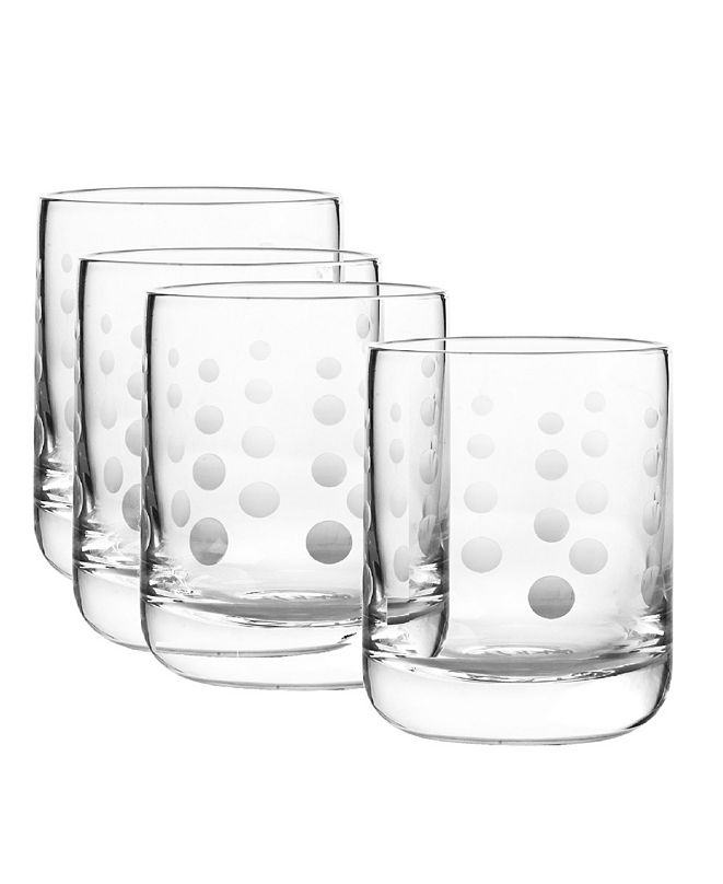 Qualia Glass Galaxy Double Old Fashioned Glasses, Set Of 4