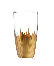 Qualia Glass Lava Highball Glasses, Set Of 4