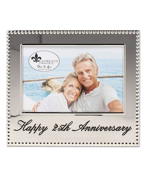 "Lawrence Frames Happy 25Th Anniversary Picture Frame - 4"" x 6"""