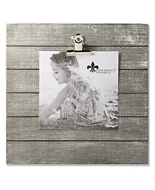 """Lawrence Frames Weathered Gray Woodlands Clip Picture Frame - Holds Up To 5"""" x 7"""" Photo - 9"""" x 9"""""""