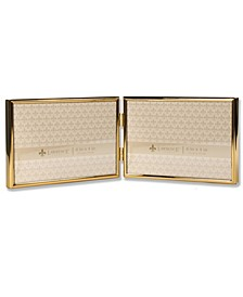 "Hinged Double Simply Gold Metal Picture Frame - 6"" x 4"""