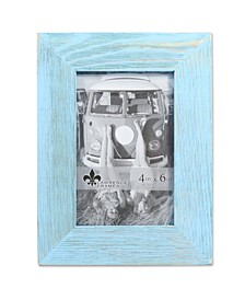 "Sarasota Weathered Robins Egg Blue Wood Picture Frame - 4"" x 6"""