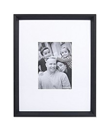 "Wide Border Matted Frame - Gallery Black 11"" x 14"" - 5"" x 7"""
