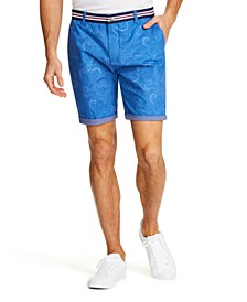 "Men's Slim Fit Paisley 9"" Shorts"
