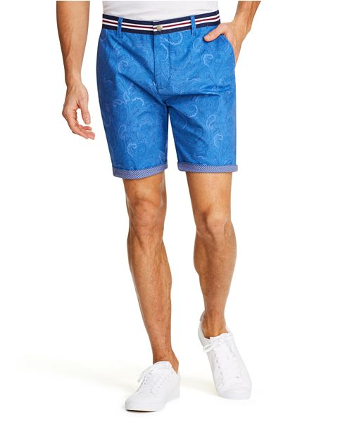 Tallia Men's Modern-Fit Stretch Paisley Shorts