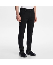 Karl Lagerfeld Paris Men's Slim Fit Moto Jeans