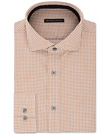 Sean John Men's Classic/Regular Fit Brown Print Dress Shirt