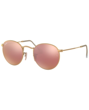 Image of Ray-Ban Sunglasses, RB3447 Round Flash Lenses