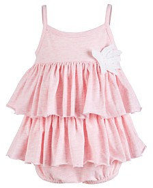 First Impressions Baby Girl Tiered Ruffle Romper