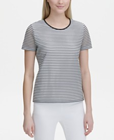 Calvin Klein Sheer-Stripe Top