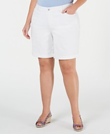 Charter Club Plus Size Denim Shorts, Created for Macy's