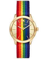 a2de85f088 Michael Kors Women's Slim Runway Rainbow Nylon Strap Watch 38mm