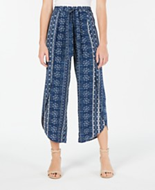 American Rag Juniors' Printed Soft Pants, Created for Macy's