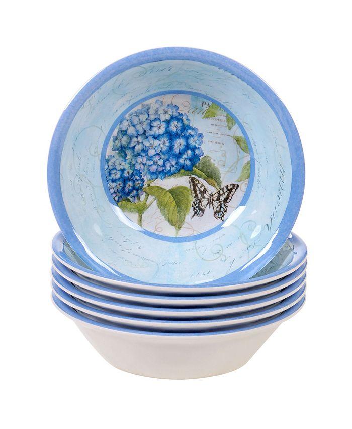 Certified International - Hydrangea Garden 6-Pc. All Purpose Bowl Set