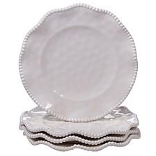 Perlette Cream Melamine 4-Pc. Salad Plate Set