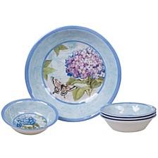 Hydrangea Garden Melamine 5-Pc. Salad/Serving Set